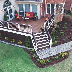 Trex before and after makeover designs of decks and for Garden decking before and after