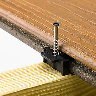 Accessory hardware from Trex keeps your deck sturdy.