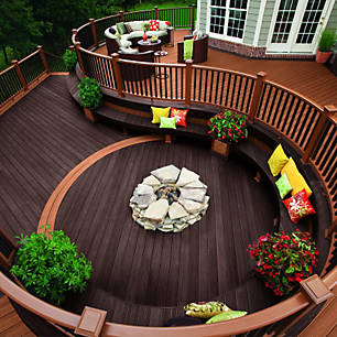 decking ideas and deck designs featuring trex enhance decking trex