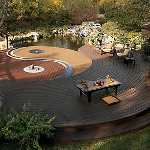 Trex composite decking can be used to create a variety of unique outdoor living spaces. See how creative you can get by browsing our deck design inspiration gallery.