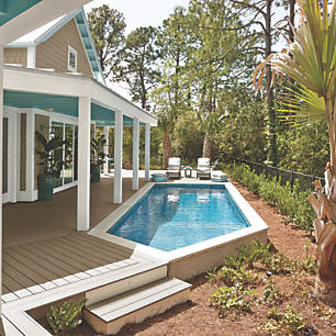 Explore deck designs that include pools and hot tubs to see how your  outdoor oasis could