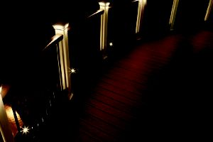 Trex DeckLighting provides the perfect ambiance for enjoying a deck at night