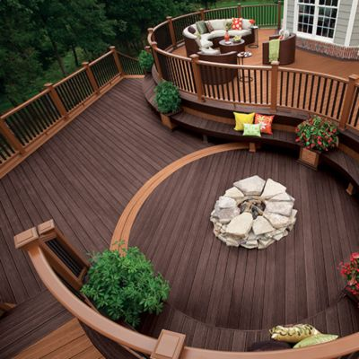 Trex Transcend Decking And Railing In Tree House Medium Brown Vintage Lantern Dark Create