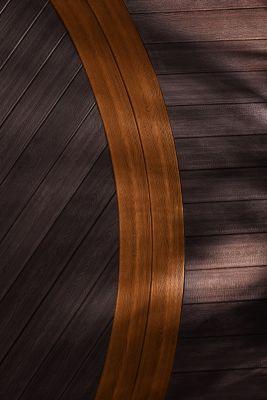 Motif de grain de bois de la terrasse Transcend de Trex brun foncé Vintage Lantern et brun moyen Tree house