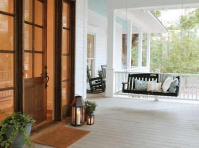 Finish your porch pillars using Fascia from Trex's Southern collection