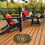 Trex Transcend Decking with Black Adirondack Chairs