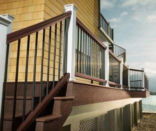 Rampe de terrasse Trex blanche