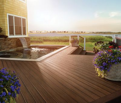 A Trex composite deck is worry free compared to timber decks made from redwood, cedar, or pressure treated lumber.