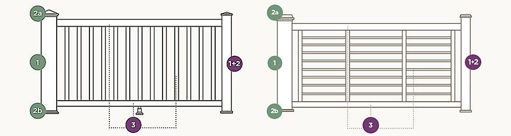rod railing component