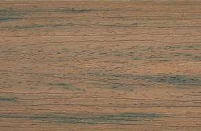 Swatch of Trex Enhance composite decking in Toasted Sand
