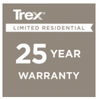 Trex offers a 25-Year Limited Residential Warranty on all Trex products