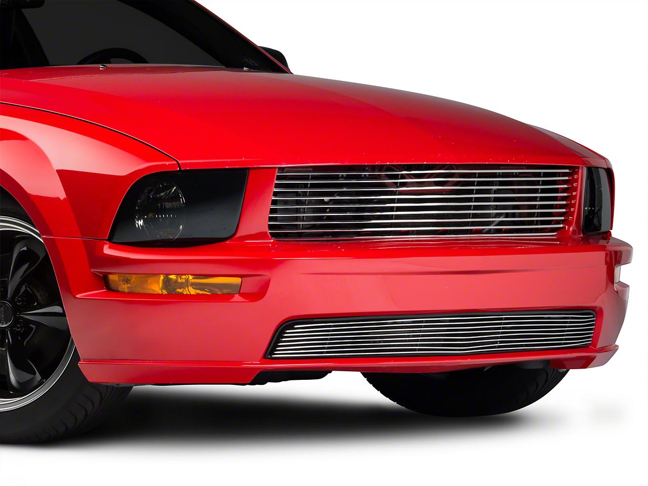 Modern Billet Polished Retro Billet Grille - Upper (05-09 GT)