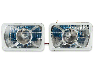 Axial Chrome Projector Headlight - Pair (79-86)