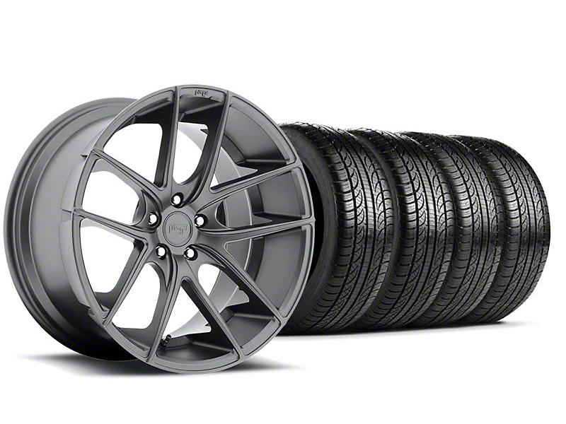 Niche Targa Matte Anthracite Wheel & Pirelli Tire Kit - 19x8.5 (05-14 All)