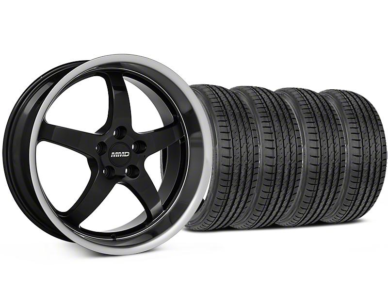 MMD Kage Black Wheel & Sumitomo Tire Kit - 19x8.5 (05-14 GT,V6)