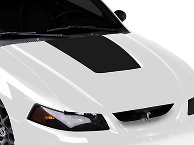 Matte Black Hood Decal (99-01 Cobra; 03-04 V6)