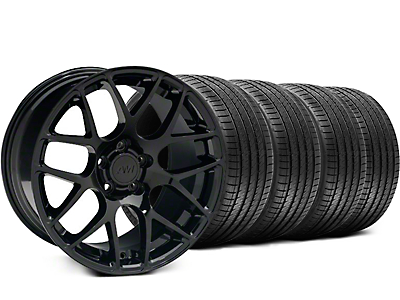 Staggered AMR Black Wheel & Sumitomo Tire Kit - 18x9/10 (94-98)