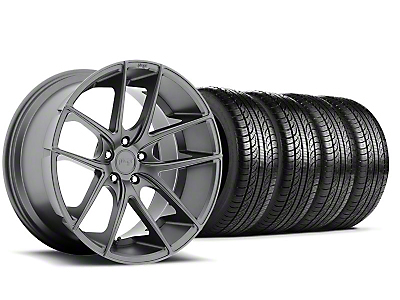 Staggered Niche Targa Anthracite Wheel & Pirelli Tire Kit - 19x8.5/9.5 (05-14 All)
