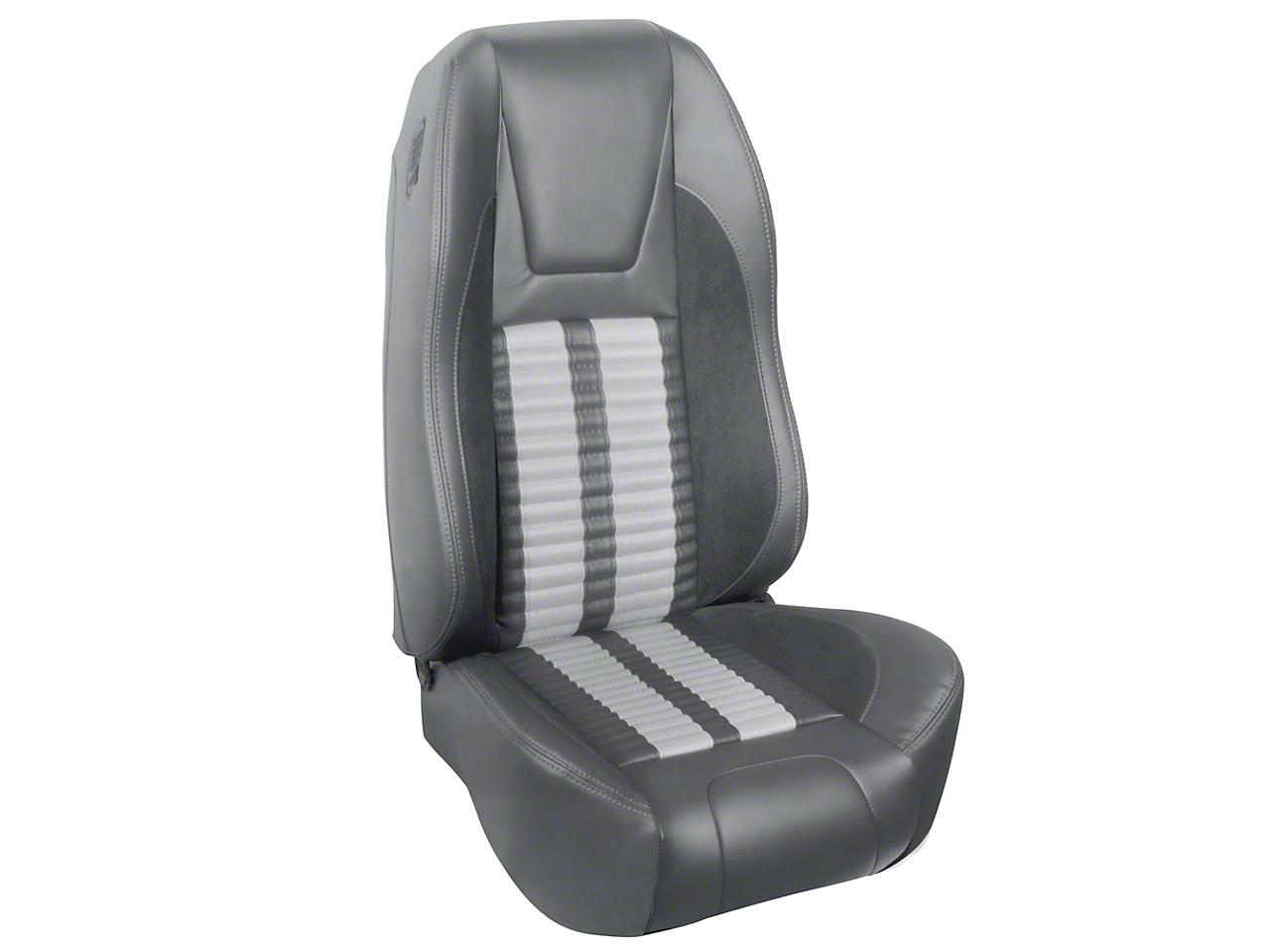 TMI Premium Sport R500 Upholstery & Foam Kit - Gray Vinyl & White Stripe/Stitch (94-98 All)
