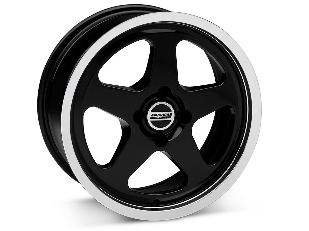 SC Style Black Wheel - 17x8 (87-93; Excludes 93 Cobra)