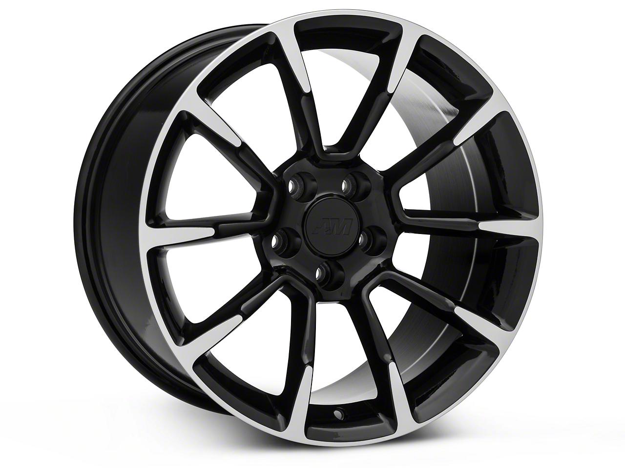 11/12 GT/CS Style Black Machined Wheel - 18x10 (15-17 Ecoboost, V6)
