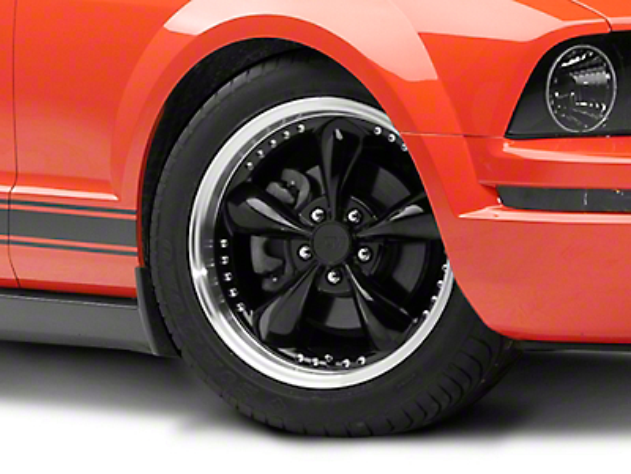 Bullitt Motorsport Black Wheel - 18x9 (05-14 GT, V6)