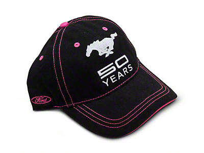 Mustang 50th Anniversary Hat - Black and Pink