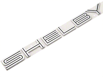 Ford Shelby Lettering Decklid Emblem - Black Inset (07-09 All)