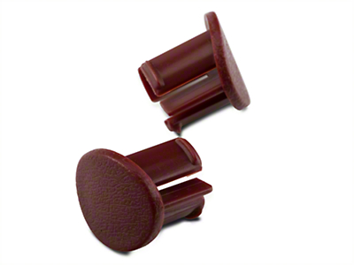 Red Door Armrest Plugs - Left Side (87-93 All)