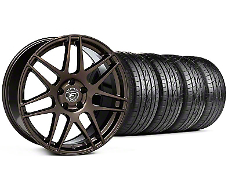 Forgestar F14 Monoblock Bronze Burst Wheel & Sumitomo Tire Kit - 19x9 (05-14 All)
