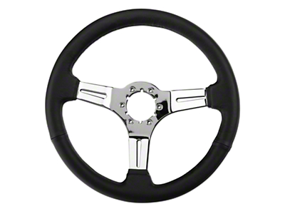 SpeedForm Black Leather Steering Wheel (79-04 All)