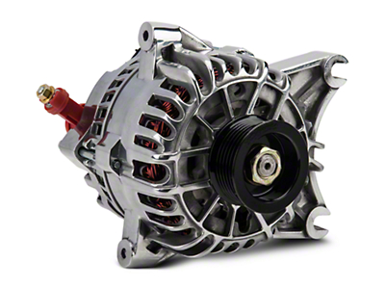 PA Performance Alternator - 130 Amp - Polished (01-04 V6)