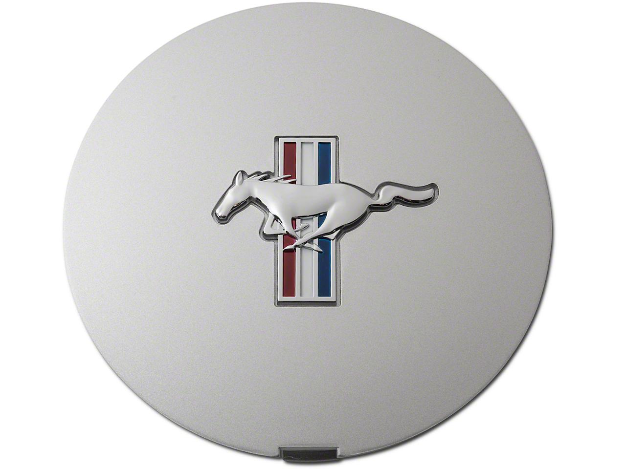 Pony Wheel Center Cap - Argent Silver w/ Tri-Bar Pony (90-93)