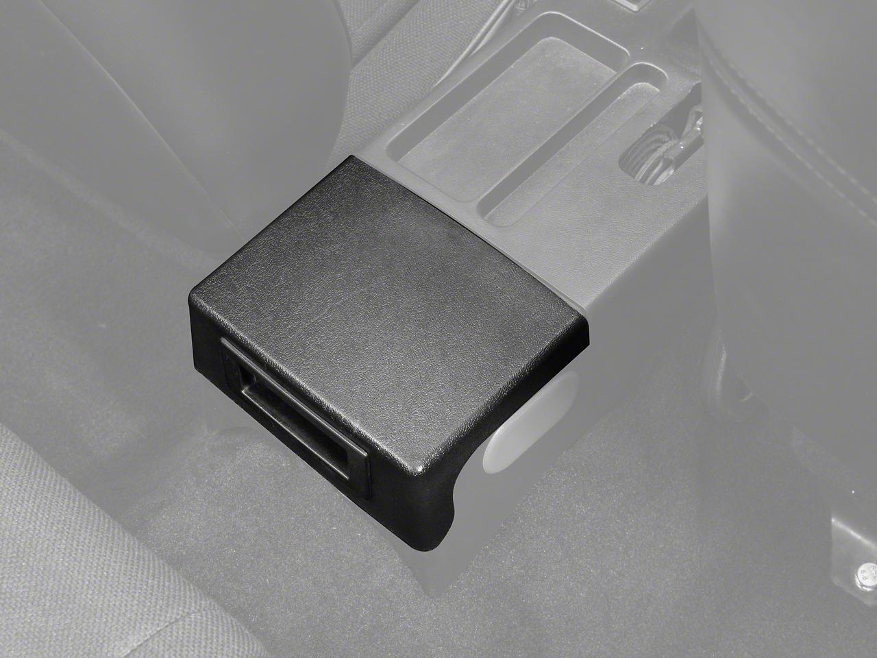 Center Console Arm Rest Delete Plate - Black (87-93 All)
