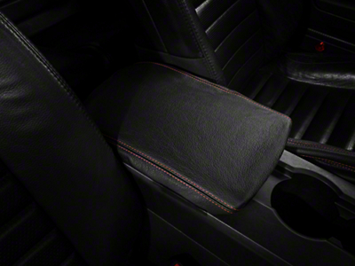 SpeedForm Premium Black Leather Arm Rest Cover - Red Stitch (05-09 All)