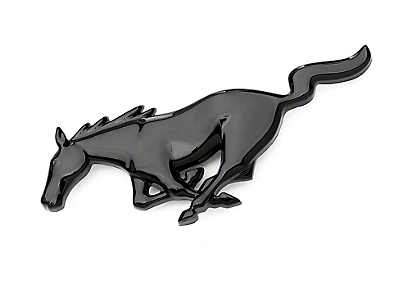 California Pony Cars Running Pony Grille Emblem - Black (94-04 All)