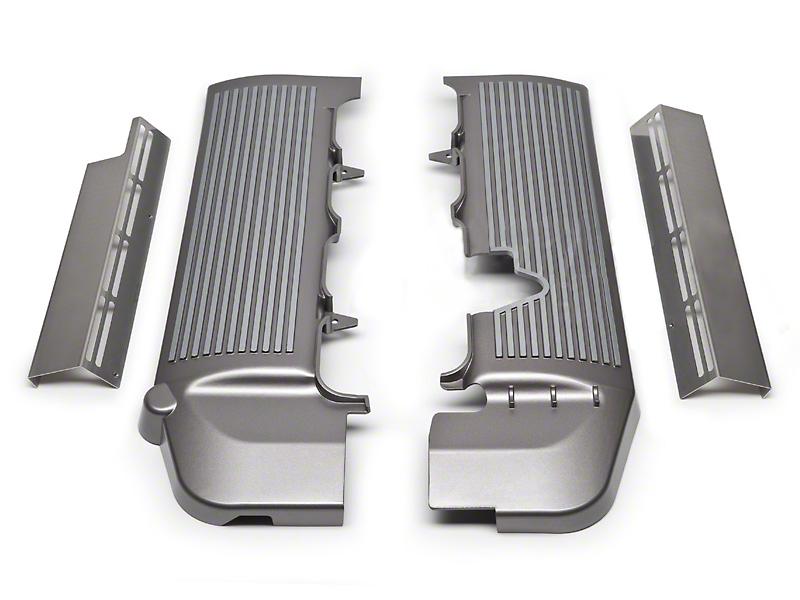 California Pony Cars Fuel Rail Covers - Titanium Silver (05-10 GT)