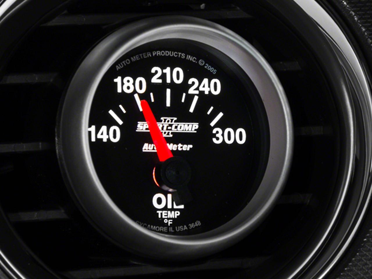 Auto Meter Sport Comp II Oil Temp Gauge - Electric (79-17 All)