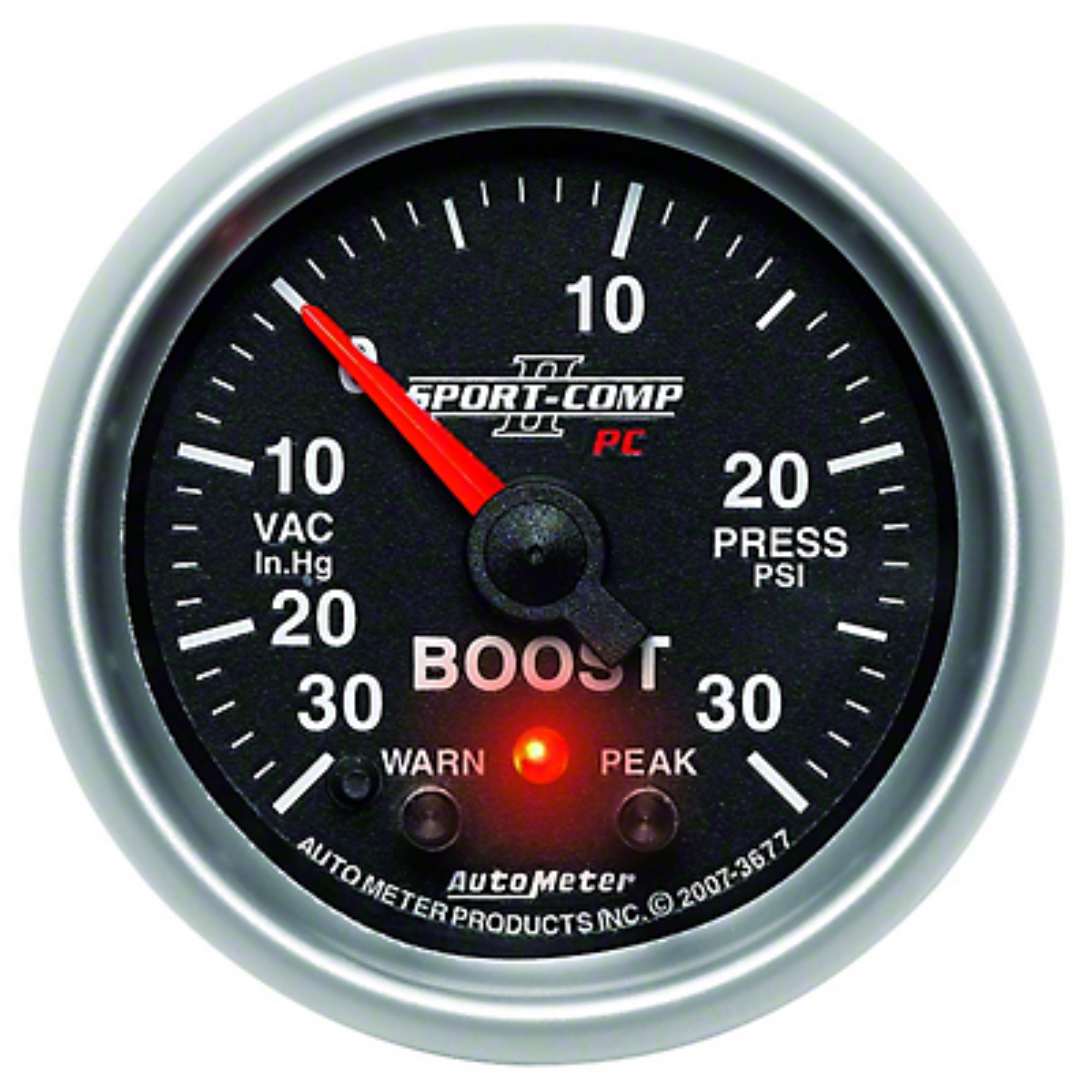 Auto Meter Sport Comp II Boost/Vac Gauge - 30psi Electric (79-17 All)