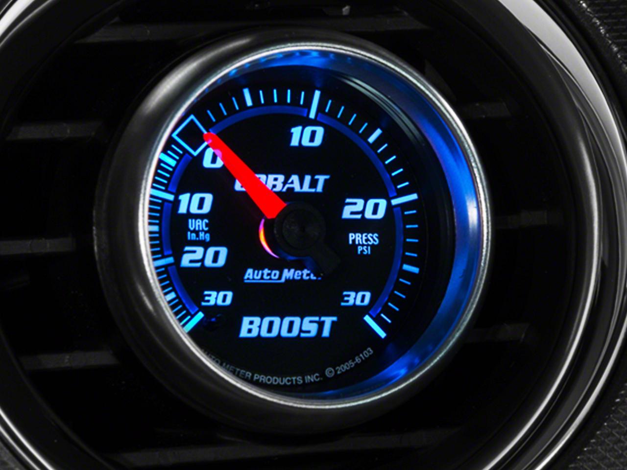 Auto Meter Cobalt Boost/Vac Gauge - 30psi Electric (79-17 All)