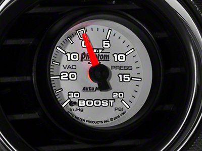 Auto Meter Phantom II Boost/Vac Gauge - 20 psi Mechanical (79-17 All)