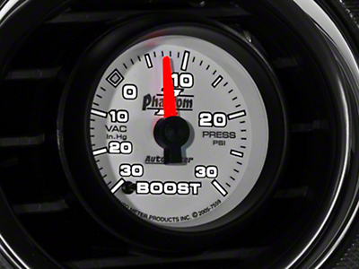 Auto Meter Phantom II Boost/Vac Gauge - 30psi Electric (79-17 All)