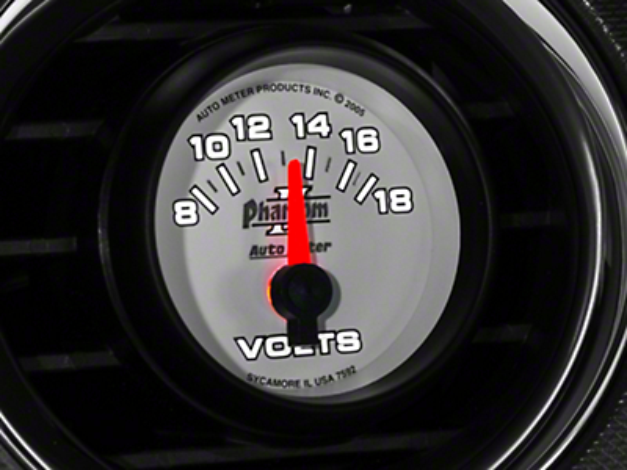 Auto Meter Phantom II Voltmeter Gauge - Electric (79-17 All)