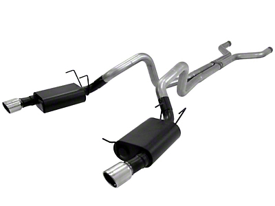 Flowmaster American Thunder Cat-Back Exhaust w/ X-Pipe (13-14 GT)