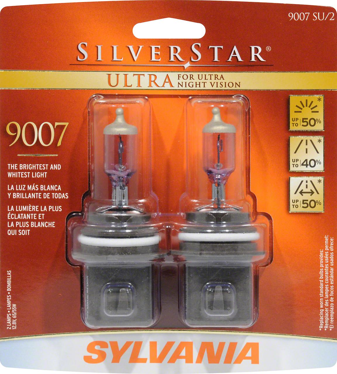 Sylvania Silverstar Ultra Light Bulbs - 9007