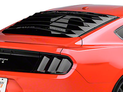 2015 2018 Mustang Louvers Quarter Window Americanmuscle