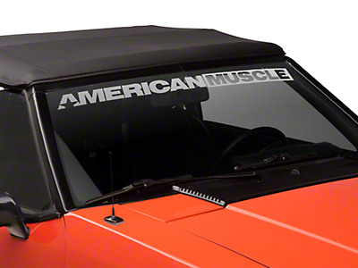 AmericanMuscle Windshield Banner - Frosted (79-93 All)