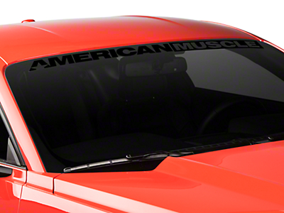 AmericanMuscle Windshield Banner - Black (15-17 All)