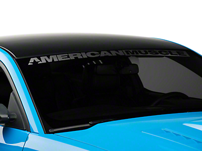 AmericanMuscle Windshield Banner - Frosted (05-17 All)