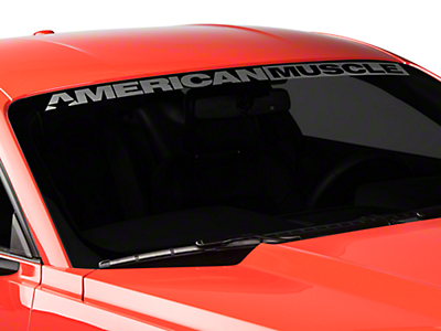 AmericanMuscle Windshield Banner - Frosted (15-17 All)